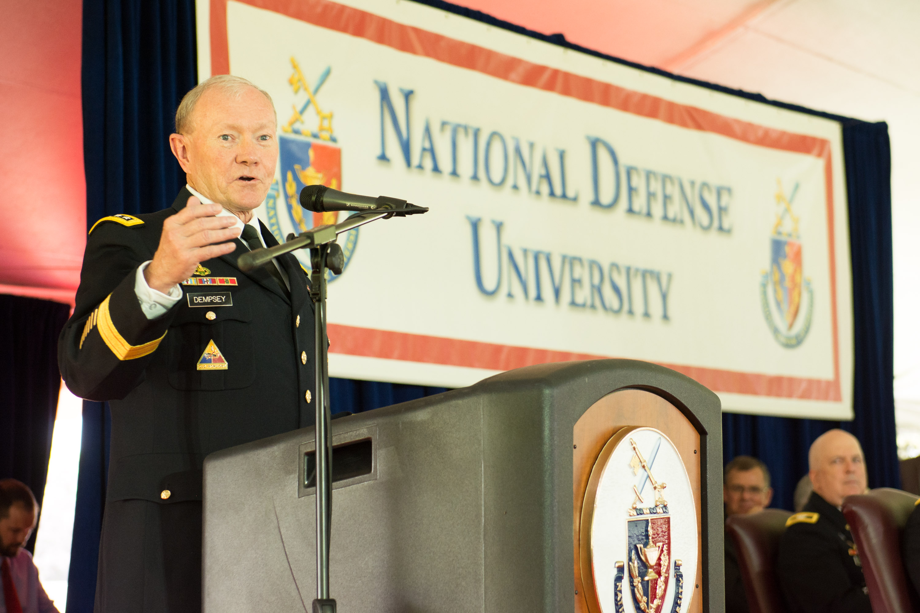 GEN Martin E. Dempsey, Chairman of the Joint Chiefs of Staff, delivered NDU's 2015 commencement address.