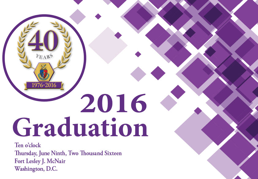 Cover of NDU's 2016 graduation program